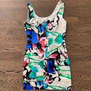 Walter Watercolor Floral Silk Mini Dress